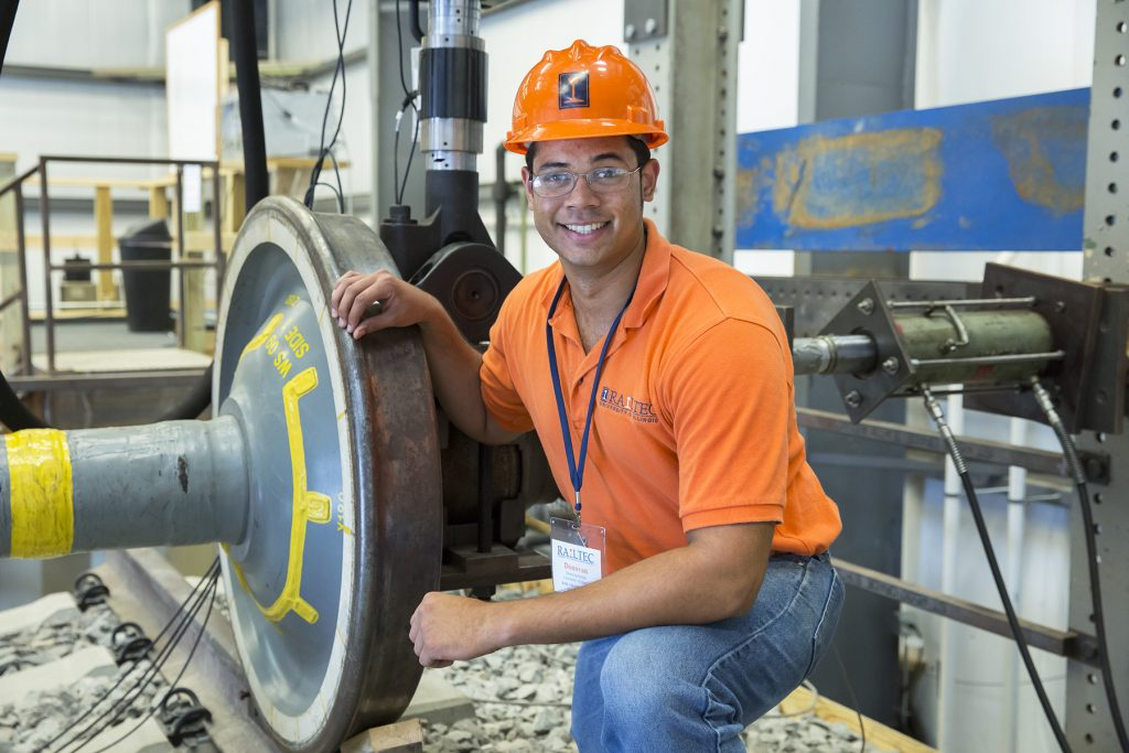 Railway engineering student at the Research and Innovation Laboratory (RAIL) at the University of Illinois