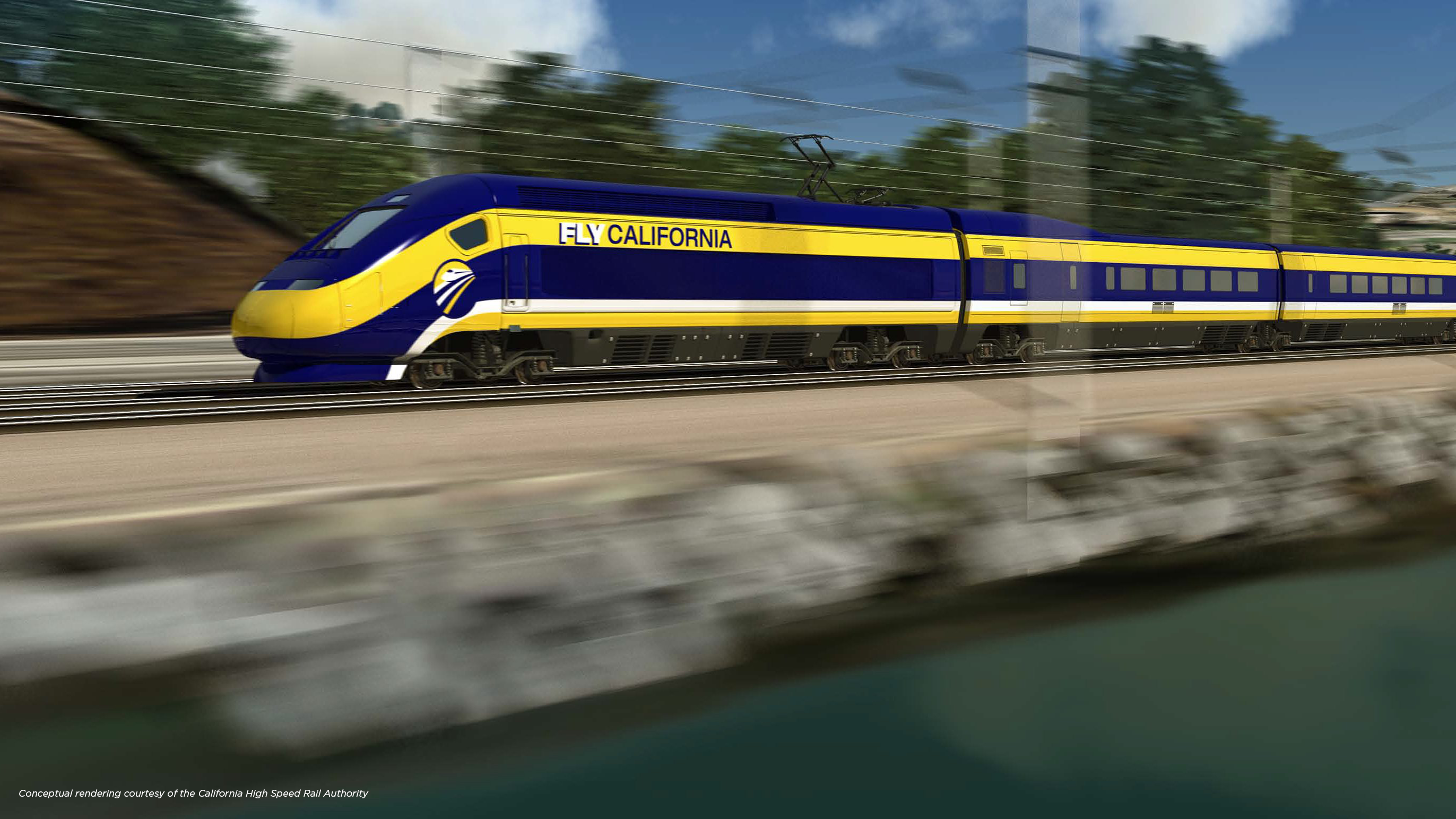 A conceptual rendering of California High Speed Rail System - Technology that Railway Engineering students can learn more about