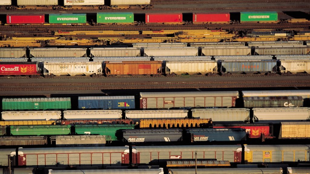 image of railyard to demonstrate increase freight traffic
