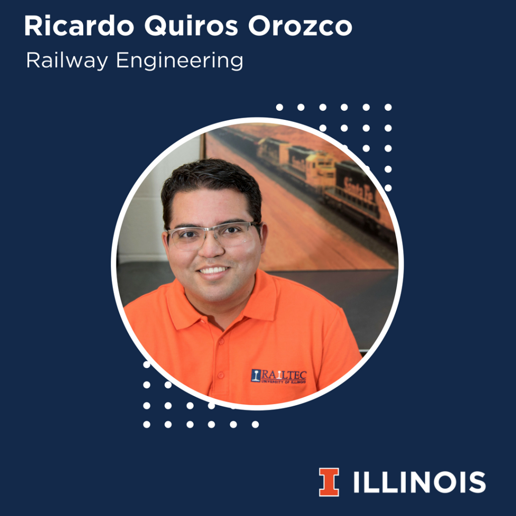 photo of Ricardo Quiros Orozco a railtec student with advice for railway engineering students